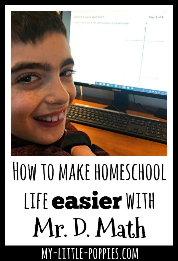 How to make homeschool life easier with Mr. D. Math | My Little Poppies