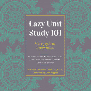 Lazy Unit Study 101: Learn to Embrace Those Rabbit Holes and Surrender to Delight-Driven Learning by Caitlin Fitzpatrick Curley, MA/CAGS
