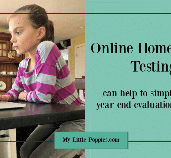 Online Homeschool Testing Can Simplify the Year-End Evaluation Process | My Little Poppies