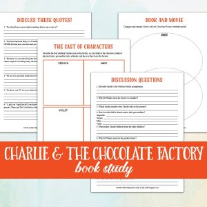 Charlie and the Chocolate Factory Book & Film Study {Lazy Unit Study Inspiration Pack} | My Little Poppies