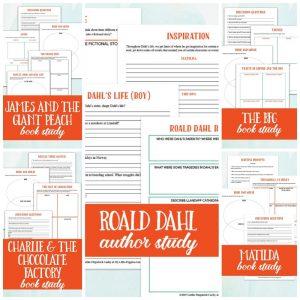 Roald Dahl Author, Book, & Film Study {Lazy Unit Study Inspiration Pack BUNDLE} | My Little Poppies