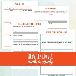 Roald Dahl Author Study {Lazy Unit Study Inspiration Pack} | My Little Poppies Explore the world of Dahl by reading his autobiography, Boy.Discuss the important events in Roald Dahl's life. Find and discuss sources of inspiration. Then, think about your own life. How might you exaggerate events in your own life to create stories like Dahl?