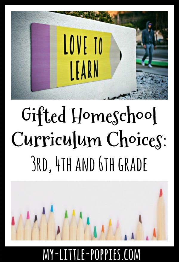 Gifted Homeschool Curriculum: 3rd, 4th and 6th grade | My Little Poppies