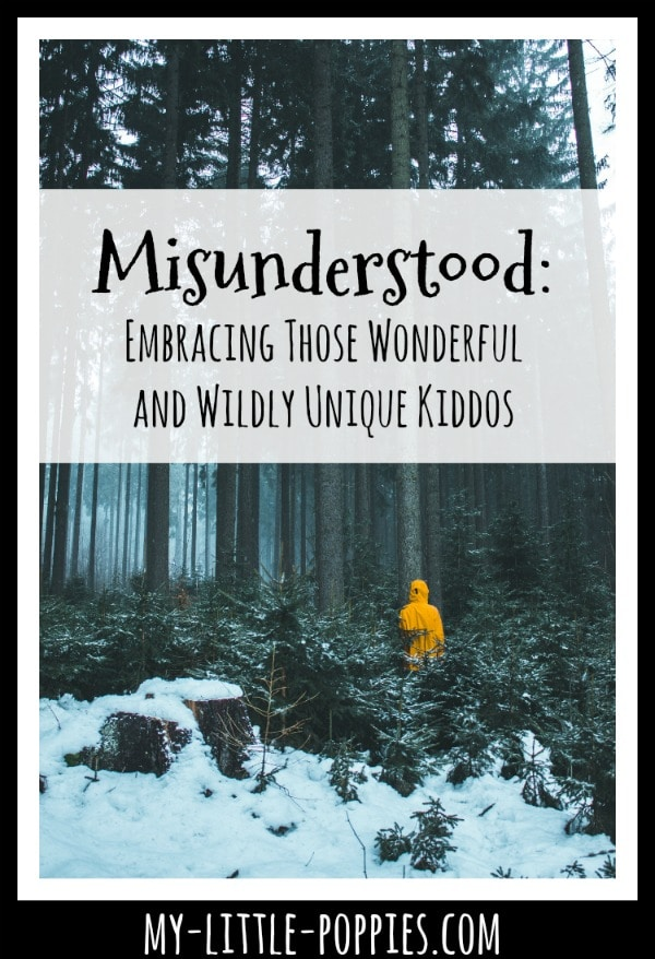Misunderstood: Embracing Your Wonderful and Wildly Unique Kiddos | My Little Poppies