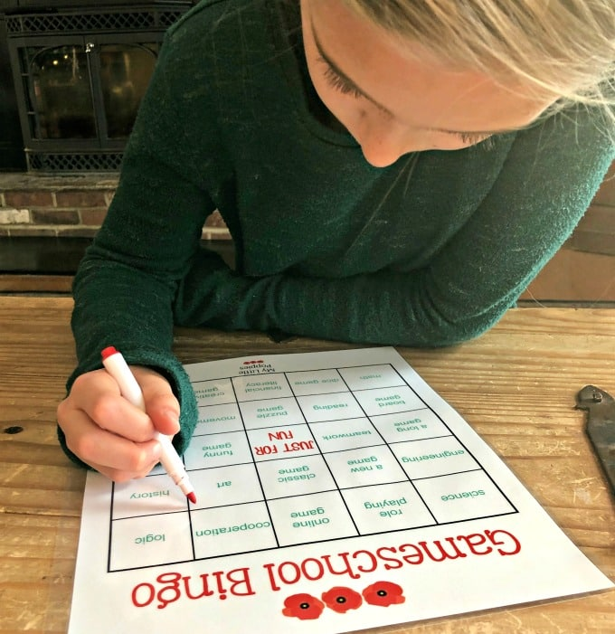 How to Use this Gameschool Bingo Challenge to Fuel Learning and Skyrocket Play in Your Homeschool | My Little Poppies