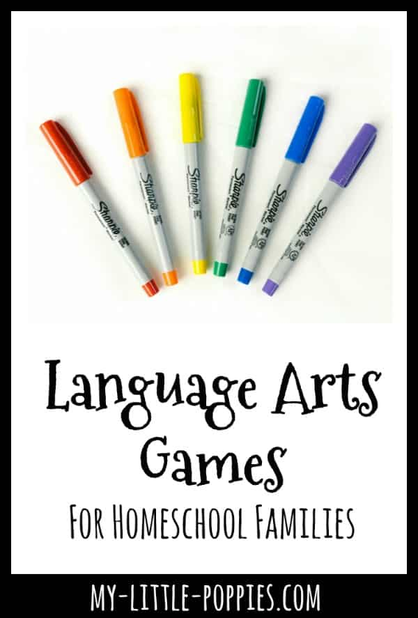Language Arts Games For Homeschool Families {A Gameschooling Series} | My Little Poppies