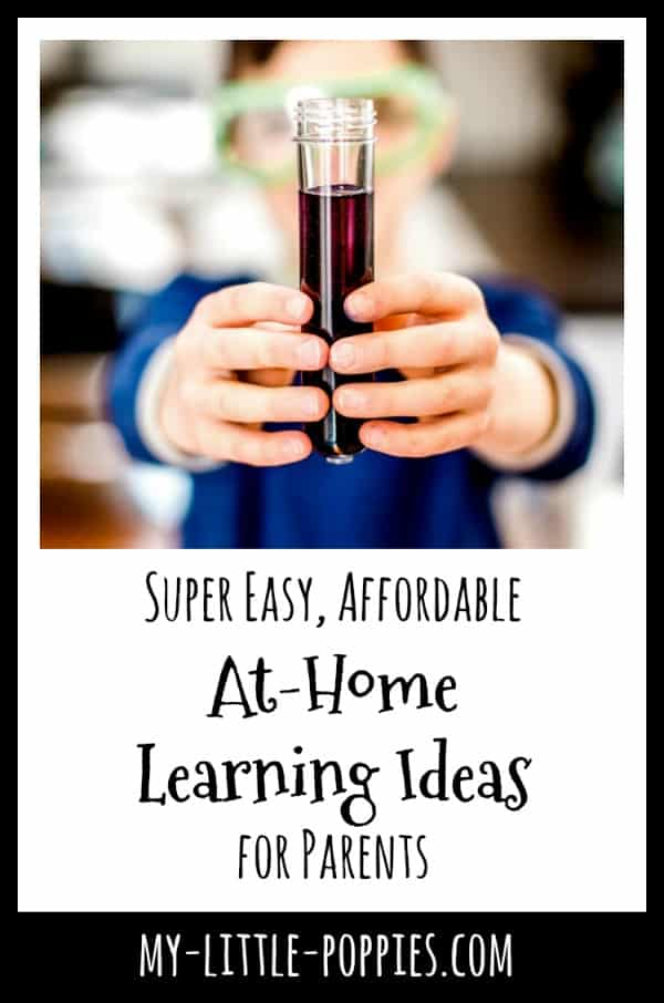 Super Easy, Affordable At-Home Learning Ideas for Parents | My Little Poppies