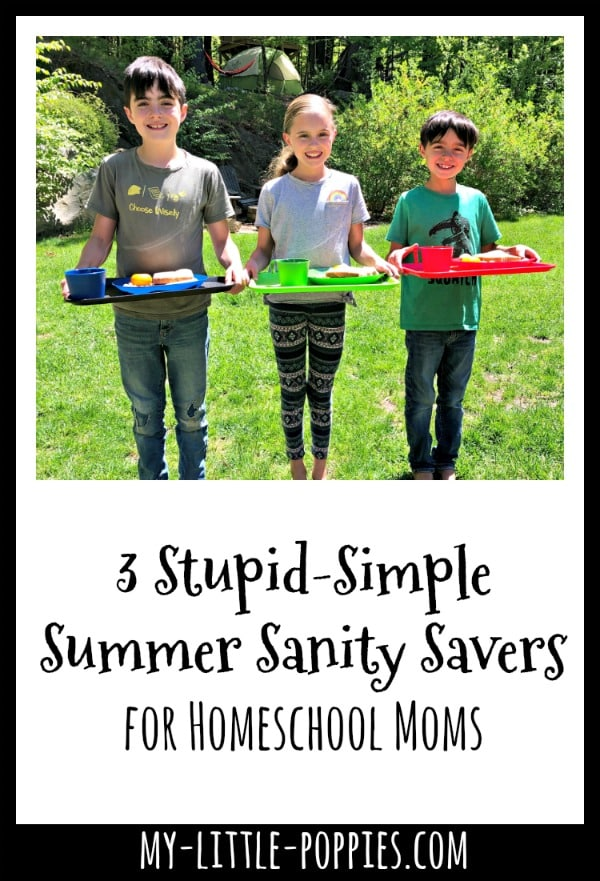 3 Stupid-Simple Summer Sanity Savers for Homeschool Moms | My Little Poppies