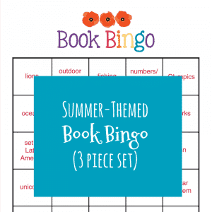 Summer-Themed Book BINGO {3-piece set} A fun alternative to traditional reading logs! | My Little Poppies