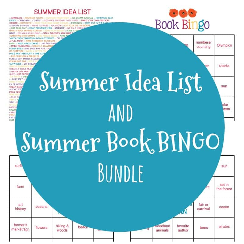 Summer Idea List & Summer-Themed Book BINGO Bundle | My Little Poppies Make summer 2020 a memorable one for the whole family with this GIGANTIC fun-filled Summer Idea List and 3-piece Summer-Themed Book BINGO set!