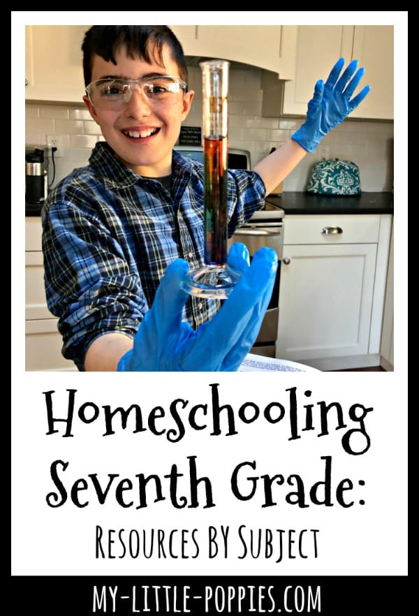 Homeschooling Seventh Grade: Resources BY Subject | My Little Poppies