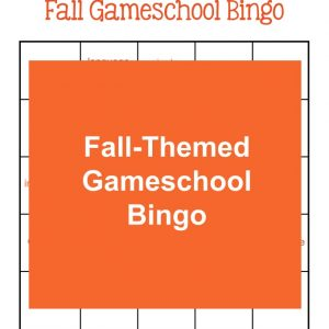 Fall-Themed Gameschool Bingo | My Little Poppies