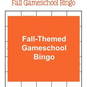Fall-Themed Gameschool Bingo | My Little Poppies