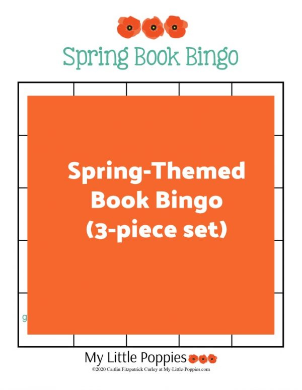 Spring-Themed Book Bingo (3-piece set) | My Little Poppies