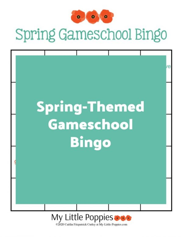 Spring-Themed Gameschool Bingo | My Little Poppies