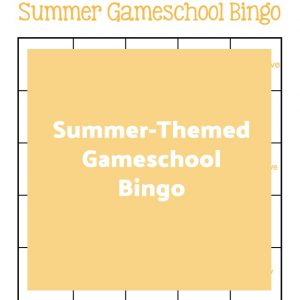 Summer-Themed Gameschool Bingo | My Little Poppies
