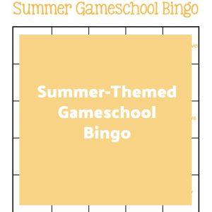 Summer-Themed Gameschool Bingo | My Little Poppies