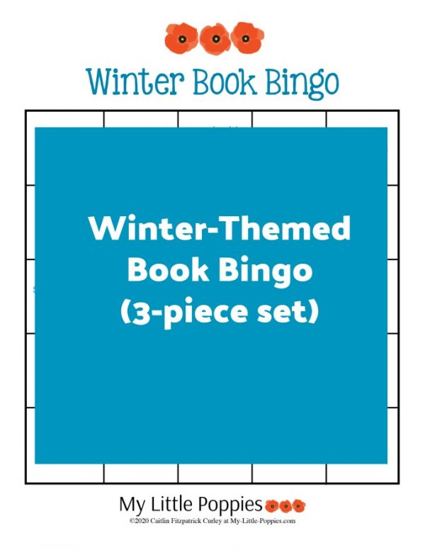Winter-Themed Book Bingo (3-piece set) | My Little Poppies