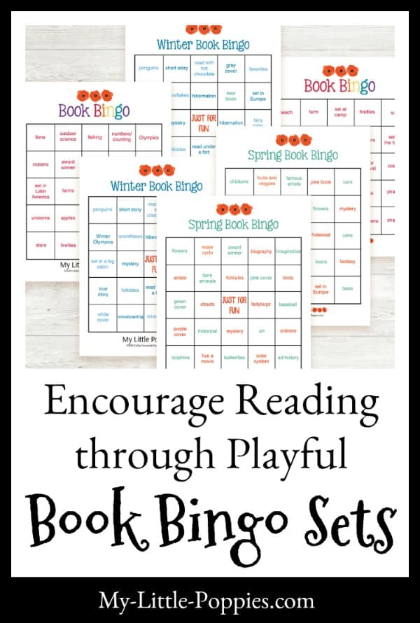 Encourage Reading through Playful Book Bingo Sets | My Little Poppies