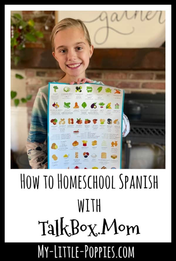 How to Homeschool Spanish with TalkBox.Mom | My Little Poppies