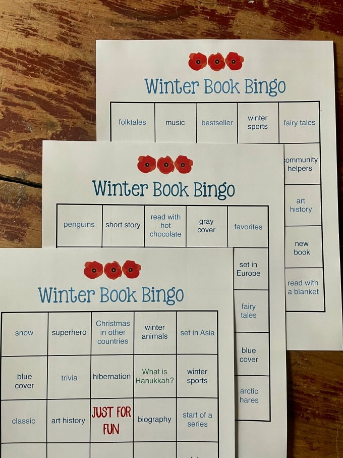 Winter Book Bingo Set | My Little Poppies
