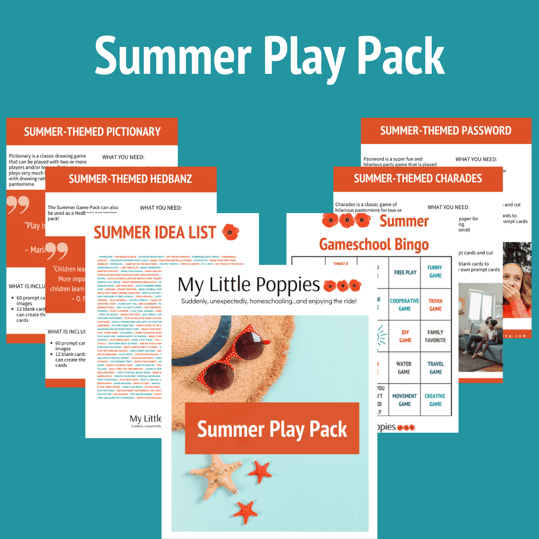 Summer Play Pack | My Little Poppies affordable gameschool resources