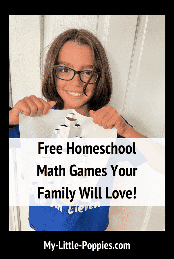 Free Homeschool Math Games Your Family Will Love | My Little Poppies